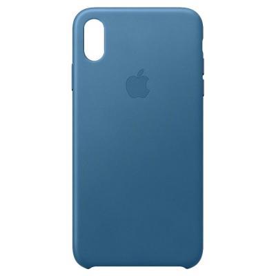 Apple mobile phone case: Leren hoesje voor iPhone XS Max - Cape Cod-blauw