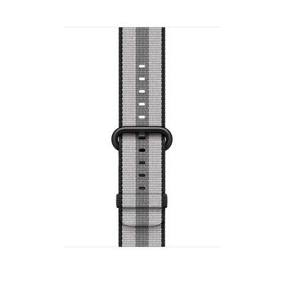 Apple : Bandje van geweven nylon - Zwart (gestreept, 42 mm) - Zwart, Grijs