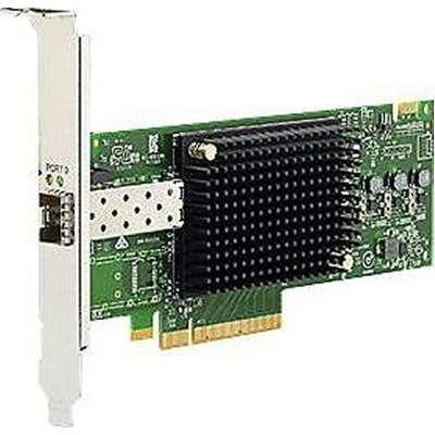 Lenovo netwerkkaart: Emulex 16Gbps Gen 6 FC Single-Port HBA Adaper for System X Servers - Zwart, Groen, Zilver