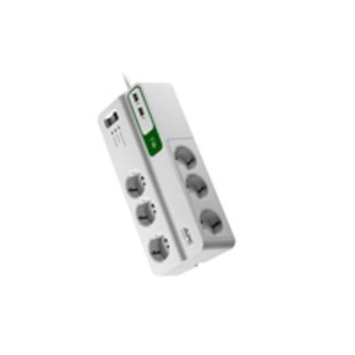 APC PM6U-IT Surge protector - Wit