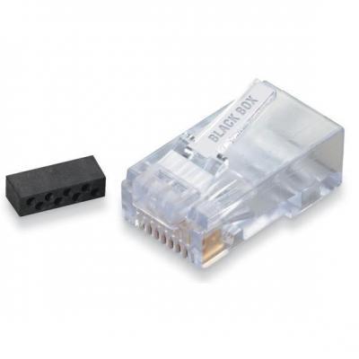 Black Box 10-Pack RJ-45, 28/22 AWG, CAT6 Kabel connector - Transparant