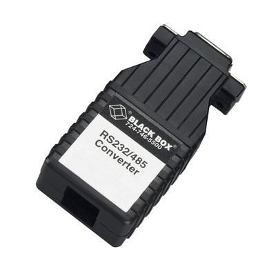Black Box RS-232 to RS-485 Interface Bidirectional Converter Seriele converter/repeator/isolator - Zwart