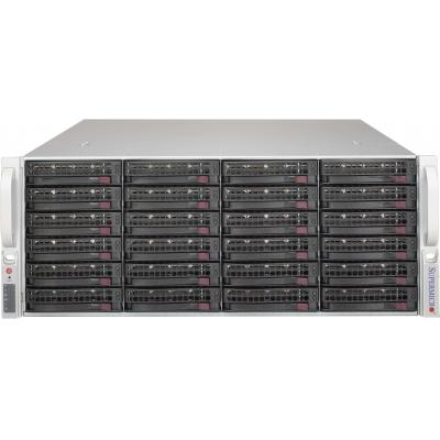 Supermicro SuperChassis SC846BE1C-R1K28B SAN - Zwart, Roestvrijstaal
