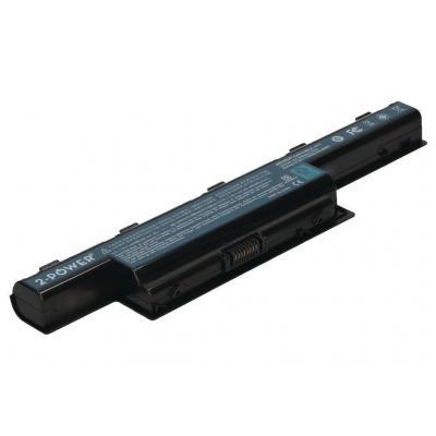 2-power batterij: Laptop battery, 5200 mAh, 11.1 V - Zwart