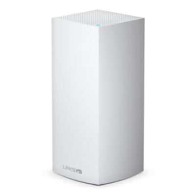 Linksys Velop Multiroom Intelligent Mesh WiFi6-systeem (AX, tri-band, 1-pack) Wireless router - Zwart,Wit