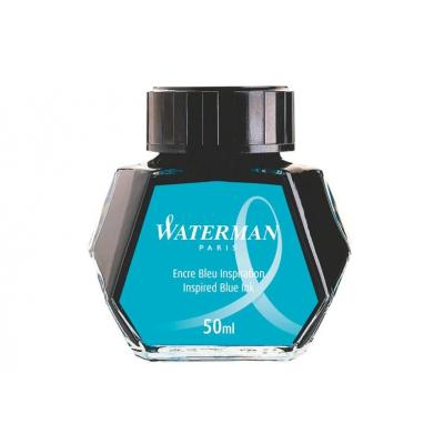 Waterman inkt: Inspired Blue Ink for Fountain Pen - Zwart, Transparant