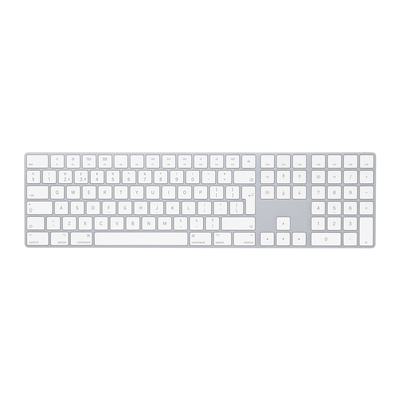 Apple toetsenbord: Magic Keyboard met numeriek toetsenblok - Nederlands - Wit, QWERTY