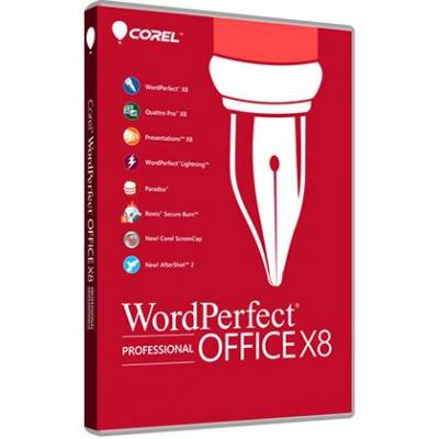 Corel software suite: WordPerfect Office X8 Professional