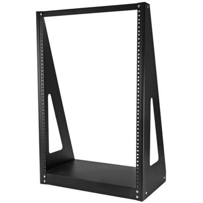 StarTech.com Heavy duty met twee stijlen Stevig open-frame serverkast 16U Rack - Zwart