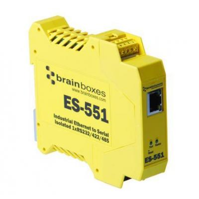 Brainboxes Isolated Industrial Ethernet to Serial 1xRS232/422/485 Interfaceadapter - Geel
