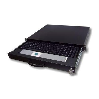 "Aixcase rack console: AIX-19K1U-B 19"" rack - Zwart"