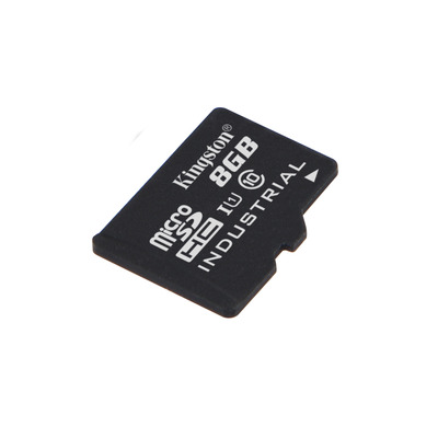 Kingston technology flashgeheugen: Industrial Temperature microSD UHS-I 8GB - Zwart