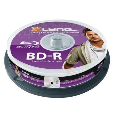 Xlyne BD: BD-R 25GB 10 Pack - Paars