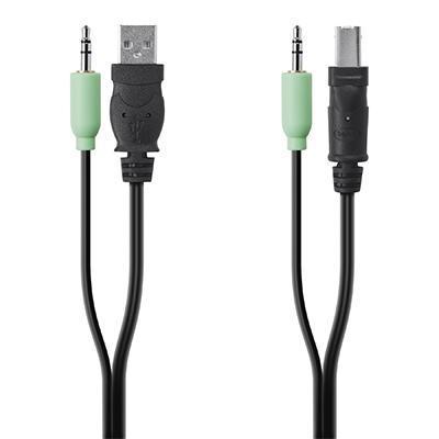 Linksys USB A/B + Audio Combo Cable KVM kabel - Zwart, Groen