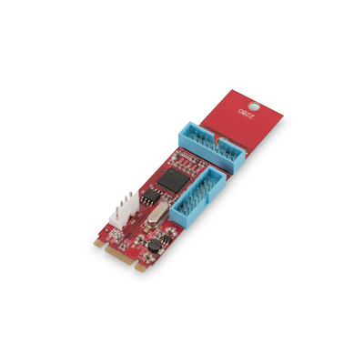 Digitus PCIe adaptercard NGFF(M.2) to 2ports 19pin USB3.0 Connects NGFF B or M Key motherboard to USB device, up .....