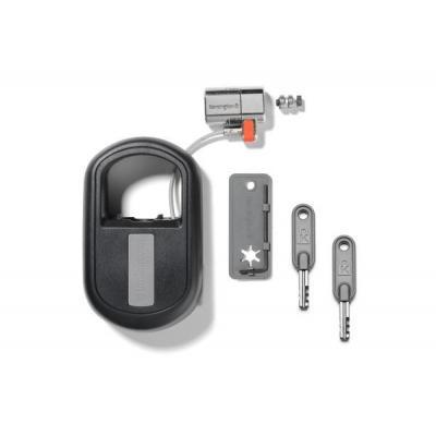 Kensington ClickSafe® Keyed Retractable Laptop Lock Kabelslot - Zwart, Grijs