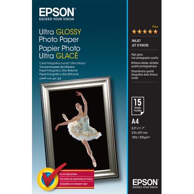 Epson Ultra Glossy Photo Paper - A4 - 15 Vellen Fotopapier