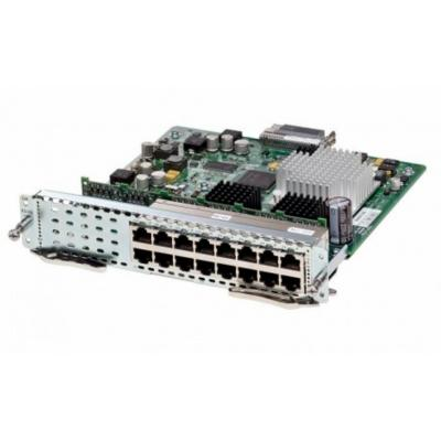 Cisco SM-X EtherSwitch SM, Layer 2/3 switching, 16 ports GE, POE+ capable, Spare Netwerk switch module