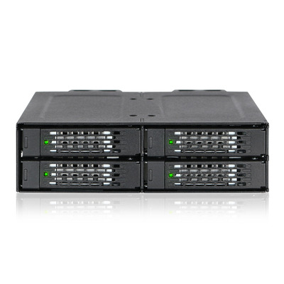 "Icy Dock MB699VP-B, 4x 2.5"" U.2 SSD/HDD, 4x miniSAS HD, 2x 15-pin SATA, 32 Gbps. 146x140.3x41.3 mm Drive bay - ....."