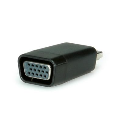 Value HDMI-VGA Adapter, HDMI Male / VGA Female Kabel adapter - Zwart