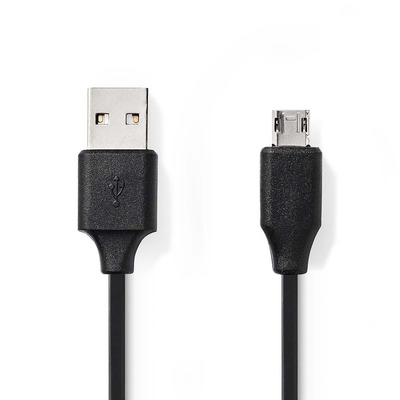 Nedis USB 2.0-Kabel, A Male - Micro-B Male Omkeerbaar, 1,0 m, Zwart USB kabel