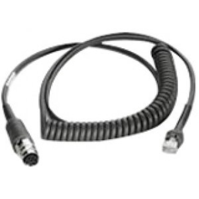 Zebra LS3408 scanner cable, black Seriele kabel - Zwart