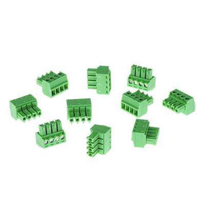 Axis Connector A 4-pin 3.81 Straight, 10 pcs Kabel connector - Groen