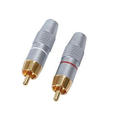 HQ RCA M, zilver kabel connector