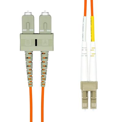 ProXtend LC-SC UPC OM1 Duplex MM Fiber Cable 0.5M Fiber optic kabel - Oranje