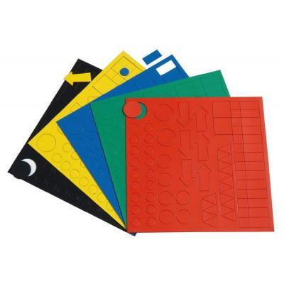 Nobo board accessorie: MAGN.SYMBOLS KIT BOXED - Meerkleuren