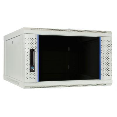 DS-IT 6U witte wandkast met glazen deur 600x600x368mm Rack