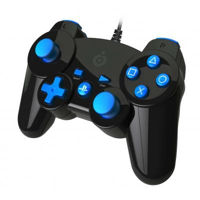 Bigben interactive game controller: Official licensed mini PS3 controller - Zwart, Blauw