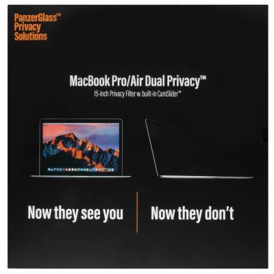 PanzerGlass Privacy Screenprotector voor MacBook 15 inch - Screenprotector Screen protector
