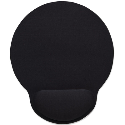 Manhattan Wrist-Rest Mouse Pad, Gel material promotes proper hand and wrist position, Black Muismat - Zwart