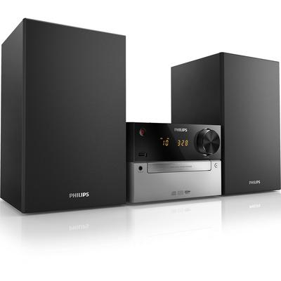 Philips Ontspannen met lekkere muziek. Bezeten van muziek. 15W. Home stereo set - Zwart, Zilver