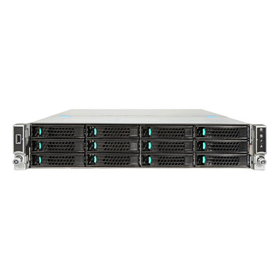 Intel Server System R2312WTTYSR Server barebone - Zwart,Metallic