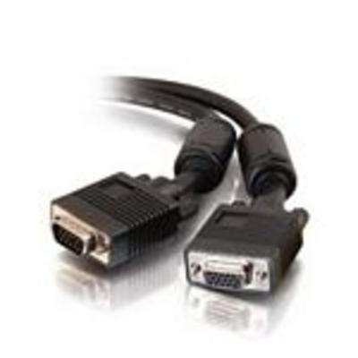 C2G 5m Monitor HD15 M/F cable VGA kabel  - Zwart