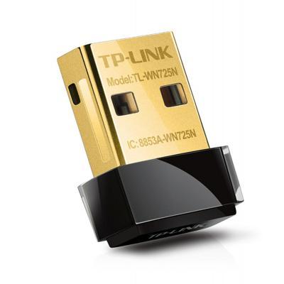 Tp-link netwerkkaart: 150Mbps Wireless N Nano USB - Zwart