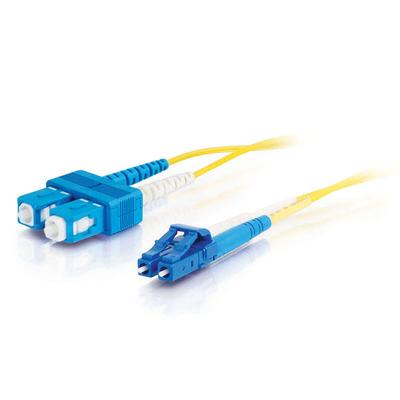 C2G 7m LC-SC 9/125 OS1 Duplex Singlemode PVC Fibre Optic Cable (LSZH) - Yellow Fiber optic kabel