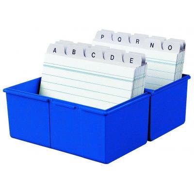 Han kaartenbak: 300 x A7, 121 x 101 x 74 mm, 3 pcs, blue - Blauw