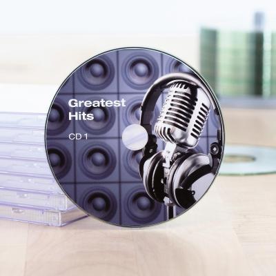 Herma etiket: Inkjet CD labels Maxi A4 Ø 116 mm white paper glossy 20 pcs. - Wit