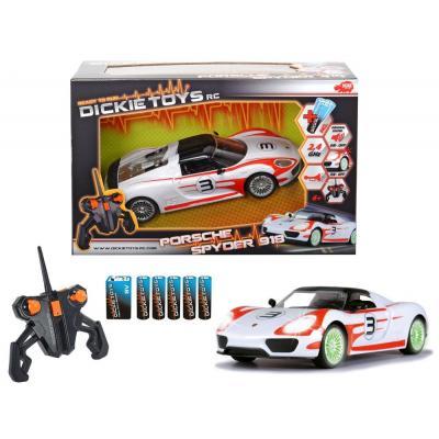 Dickie toys drones: Porsche Spyder - Rood, Wit