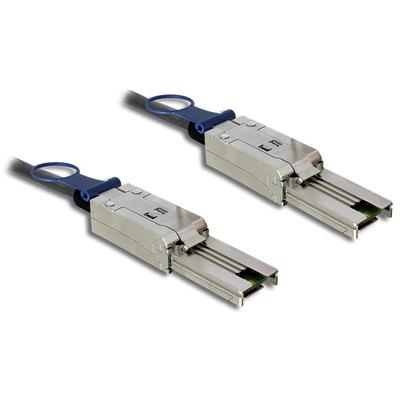Delock kabel: 2m, Mini SAS SFF-8088 - Mini SAS SFF-8088 - Zwart