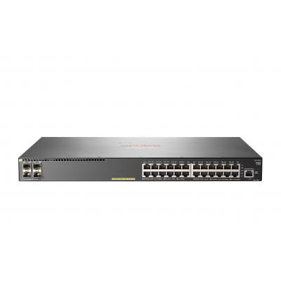 Hewlett packard enterprise Aruba 2930F 24G PoE+ 4SFP+ switch - Grijs