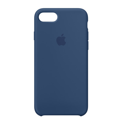 Apple mobile phone case: Siliconenhoesje voor iPhone 8/7 - Donker kobalt - Blauw