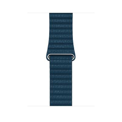 Apple : Leren bandje - Kosmosblauw (42 mm) - Large