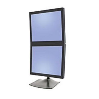 Ergotron DS Series DS100 Dual Monitor Desk Stand, Vertical Monitorarm - Zwart