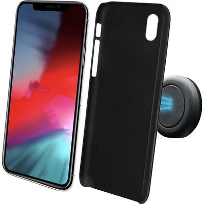 Azuri Magnetische backcover met magnetische auto- zwart - iPhone Xs Max Houder