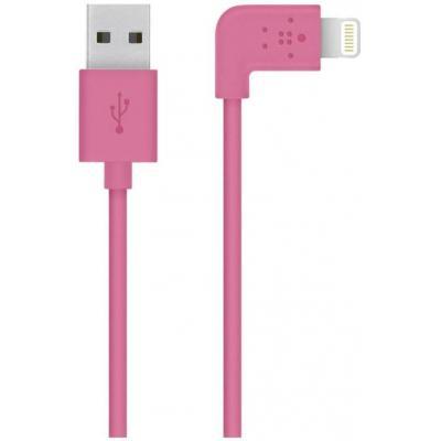 Belkin USB kabel: Flat Lightning - Roze
