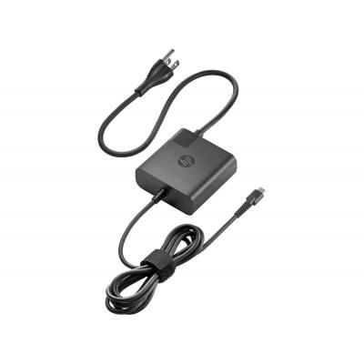 Hp netvoeding: USB-C Travel Power Adapter 65W - Zwart